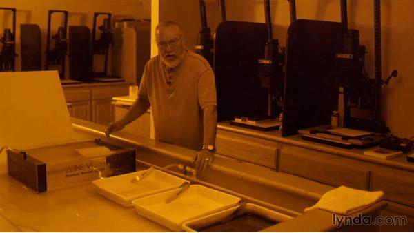 Processing the print in the chemical bath: Shooting and Processing Black-and-White Film