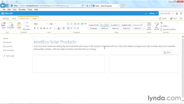 Editing a page: SharePoint Designer 2013: Branding SharePoint Sites