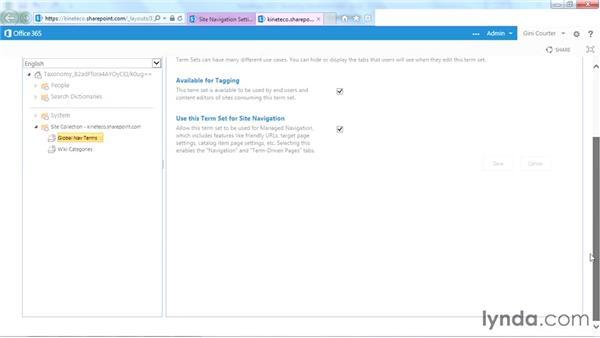 Creating a term set for custom navigation: SharePoint Designer 2013: Branding SharePoint Sites