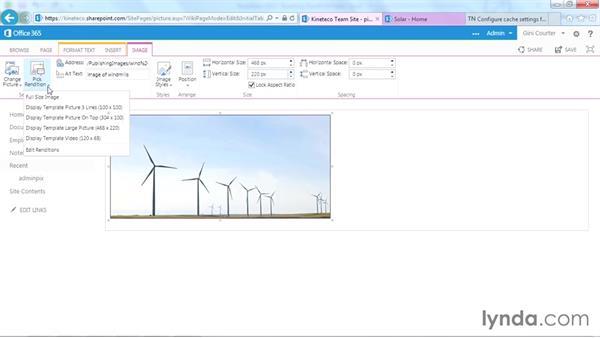 Using image renditions on publishing sites: SharePoint Designer 2013: Branding SharePoint Sites