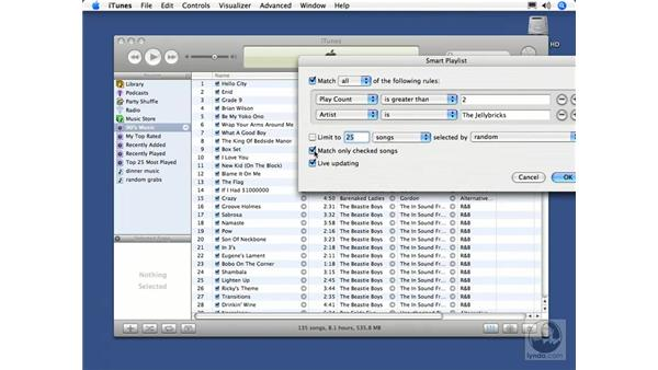 Creating Smart playlists: iTunes 5 and 6 + iPod Essential Training