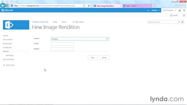 Creating a new rendition: SharePoint Designer 2013: Branding SharePoint Sites