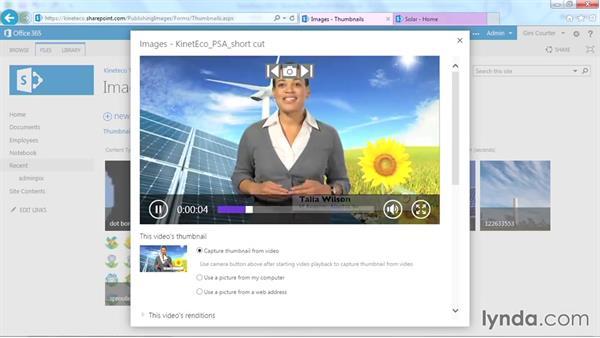 Uploading videos: SharePoint Designer 2013: Branding SharePoint Sites