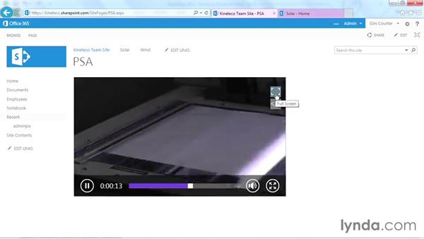 Displaying a video from SharePoint: SharePoint Designer 2013: Branding SharePoint Sites