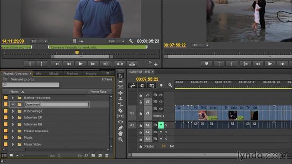 Managing versions: EPK Editing Workflows 02: Creative Editing and Fine-Tuning