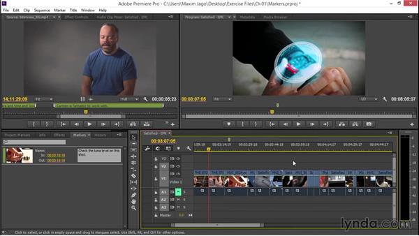 Using markers to communicate with yourself: EPK Editing Workflows 02: Creative Editing and Fine-Tuning