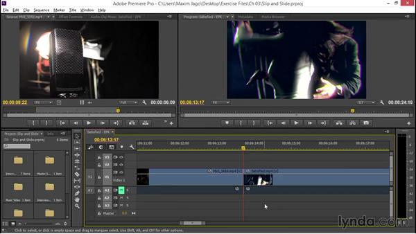 Getting to grips with slip and slide trimming: EPK Editing Workflows 02: Creative Editing and Fine-Tuning