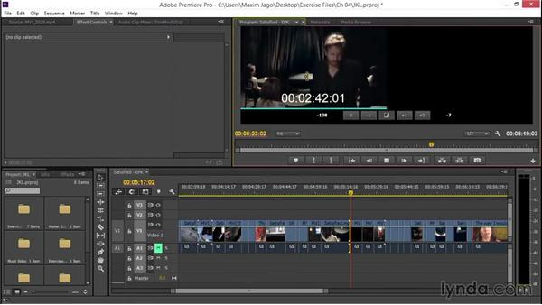 Trimming with the JKL technique: EPK Editing Workflows 02: Creative Editing and Fine-Tuning