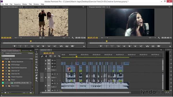 Reviewing structure choices for creativity: EPK Editing Workflows 02: Creative Editing and Fine-Tuning