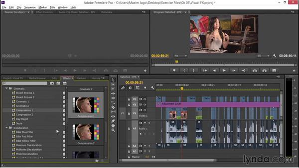 Adding rough visual effects: EPK Editing Workflows 02: Creative Editing and Fine-Tuning