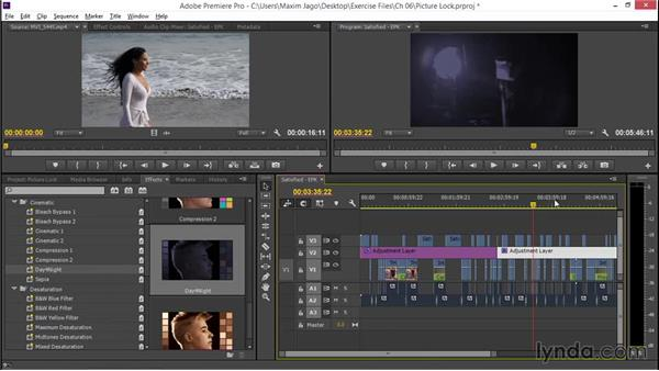 Understanding picture lock: EPK Editing Workflows 02: Creative Editing and Fine-Tuning