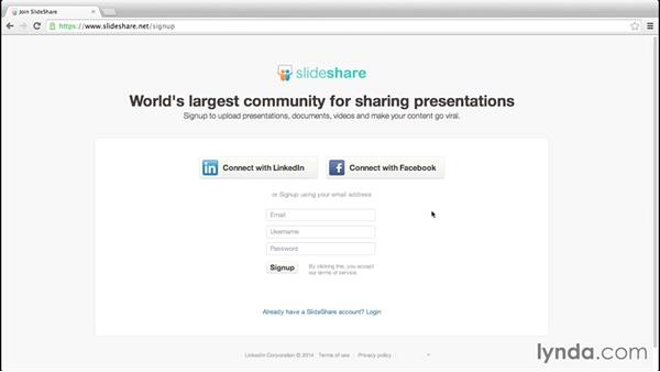 Setting up your SlideShare account: Up and Running with Slideshare