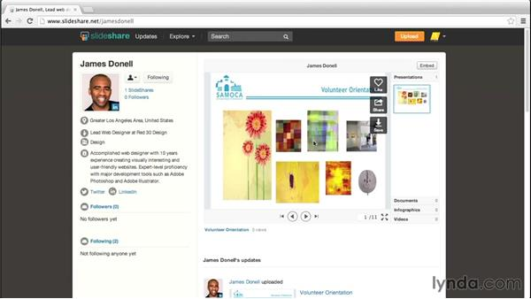 Following users: Up and Running with Slideshare