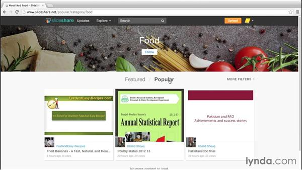 Browsing and searching for content: Up and Running with Slideshare