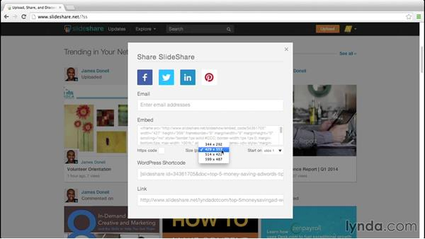 Interacting with presentations: Up and Running with Slideshare