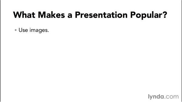 What makes a presentation popular?: Up and Running with Slideshare