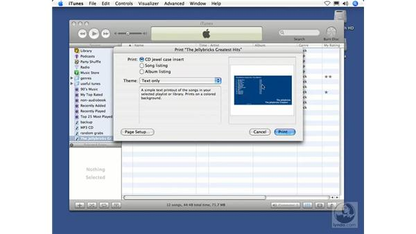 Printing a CD insert: iTunes 5 and 6 + iPod Essential Training