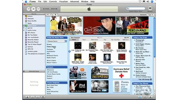 Searching for music: iTunes 5 and 6 + iPod Essential Training