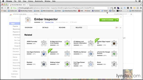 Installing Ember Inspector: Up and Running with Ember.js