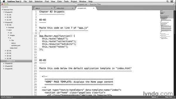Review routes with Ember Inspector: Up and Running with Ember.js