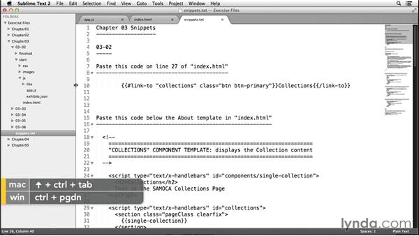 Add component templates: Up and Running with Ember.js