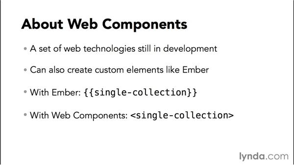 About Web Components: Up and Running with Ember.js