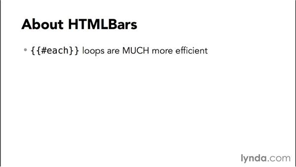 About HTMLBars: Up and Running with Ember.js
