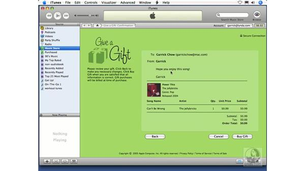 New in iTunes 6: Gifting Music: iTunes 5 and 6 + iPod Essential Training