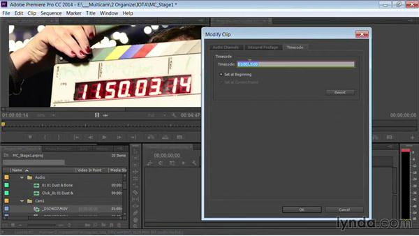 Modifying timecode: Premiere Pro Guru: Multi-Camera Video Editing