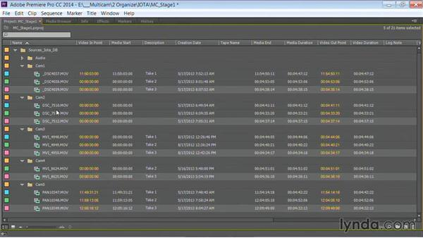 Labeling clips: Premiere Pro Guru: Multi-Camera Video Editing