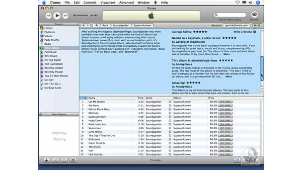 New in iTunes 6: Just for You and Customer Reviews: iTunes 5 and 6 + iPod Essential Training