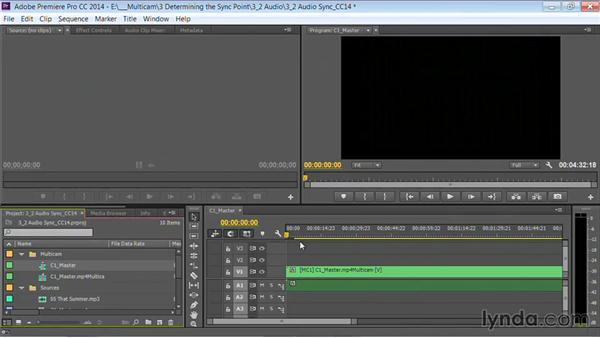 Syncing with audio: Premiere Pro Guru: Multi-Camera Video Editing