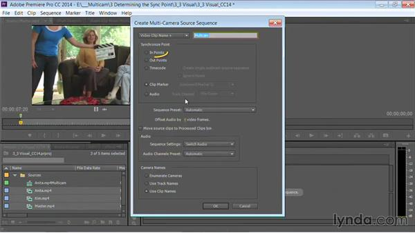 Syncing with a visual sync point: Premiere Pro Guru: Multi-Camera Video Editing