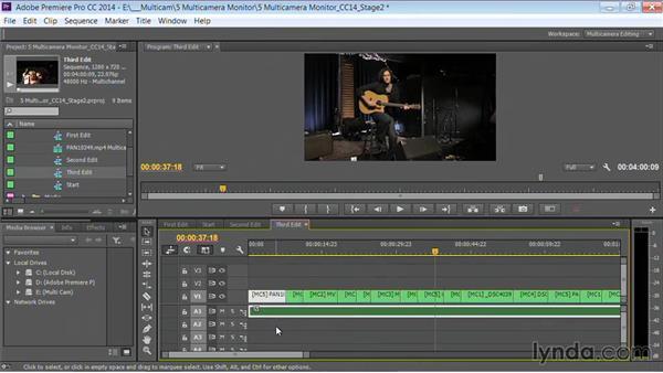 Flattening the multicamera sequence: Premiere Pro Guru: Multi-Camera Video Editing