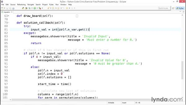 Displaying the solutions: Code Clinic: Python