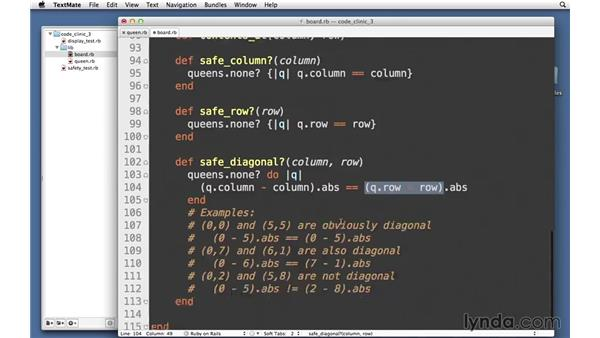 Determining safe positions: Code Clinic: Ruby