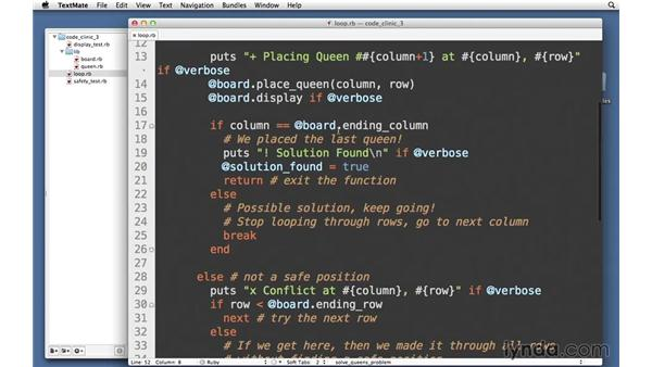 Using loops: Code Clinic: Ruby