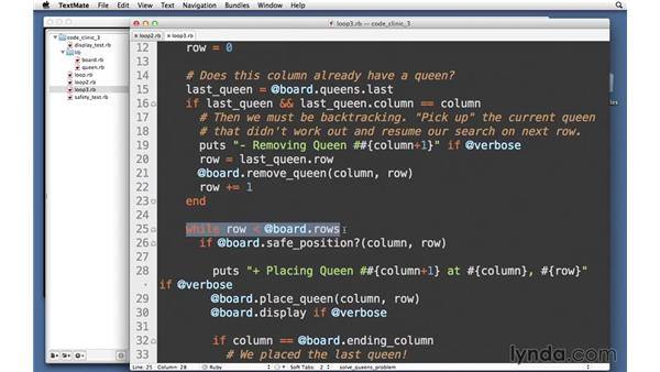 Loops with smarter backtracking: Code Clinic: Ruby