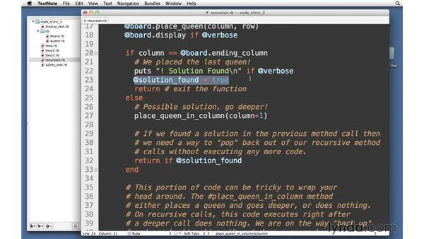 Using recursion: Code Clinic: Ruby