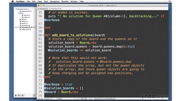 Finding all possible solutions: Code Clinic: Ruby