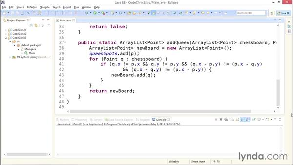 My solution: Brute force vs. heuristic methods: Code Clinic: Java