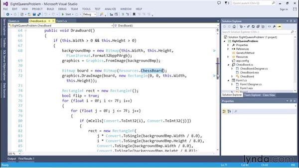 Displaying the solutions: Code Clinic: C#
