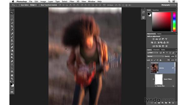 Adding a vertical motion blur: Creative Blurring with Photoshop