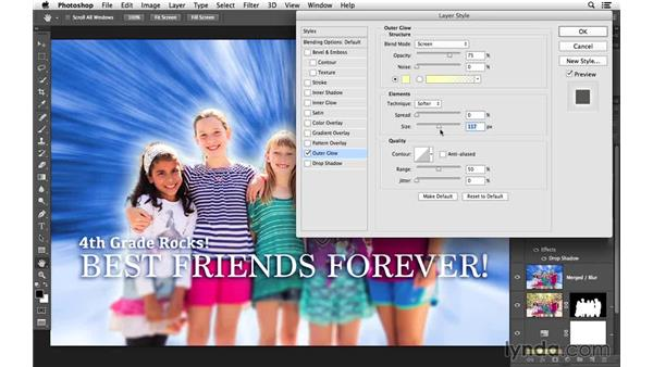 Creating a glow effect and reviewing the project: Creative Blurring with Photoshop