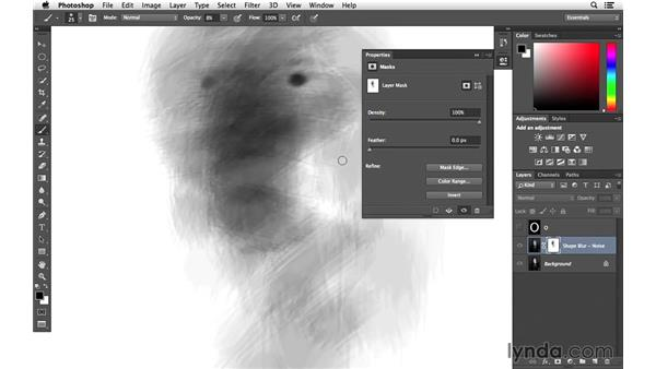 Adding a mask to the shape blur later: Creative Blurring with Photoshop