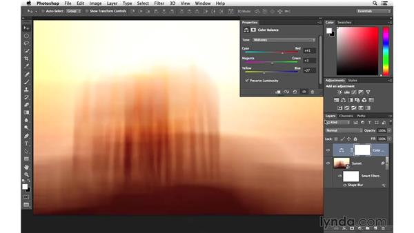 Using Shape Blur to create abstraction: Creative Blurring with Photoshop