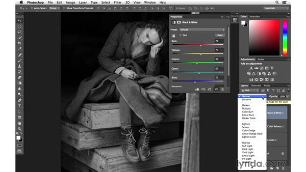 Enhancing color and tone with three adjustment layers: Creative Blurring with Photoshop