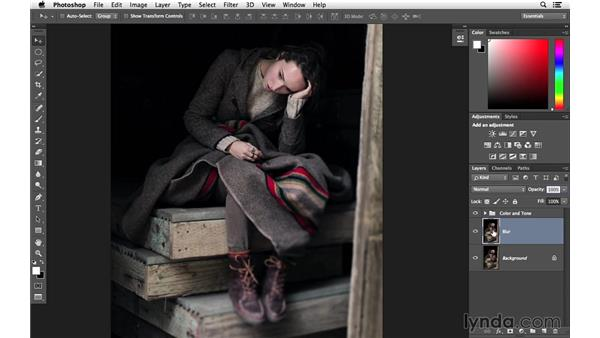 Creating a blur-and-grain effect: Creative Blurring with Photoshop