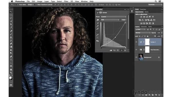 Making improvements with Hue/Saturation and Curves: Creative Blurring with Photoshop
