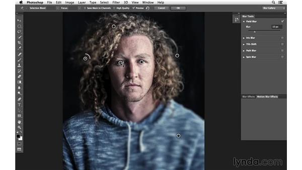 Adding a Field Blur effect: Creative Blurring with Photoshop
